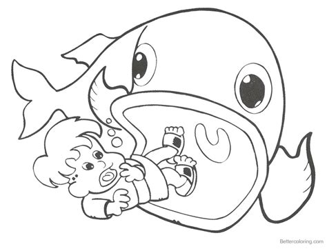 jonah and the whale coloring pages coloring pages of jonah and the whale black and white