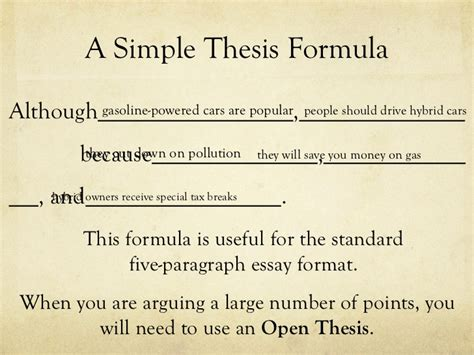 how to do a thesis thesis statements
