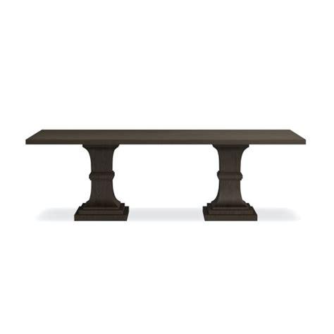 rectangular pedestal dining table pedestal rectangular dining table williams sonoma