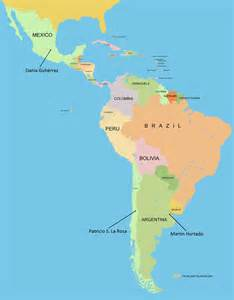 map of south america including mexico students