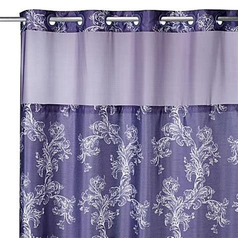 74 long shower curtain hookless 174 71 inch x 74 inch majestic scroll shower curtain
