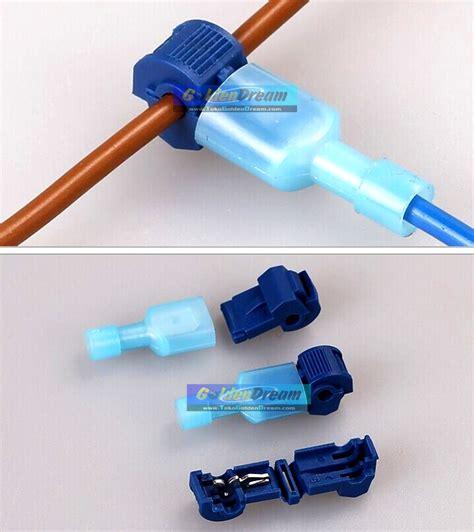 Kabel Jumper T Biru 1 2 5mm2 Wire Connector Suntik Caba Berkualitas jual kabel jumper t biru 1 2 5mm2 wire connector suntik cabang split cable golden