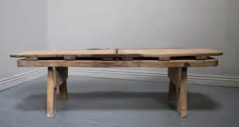 antique elm livestock coffee table