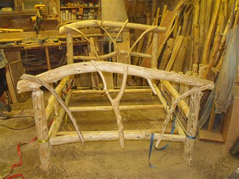 how to make a log bed rustic cedar log bed moose scene headboard by glass
