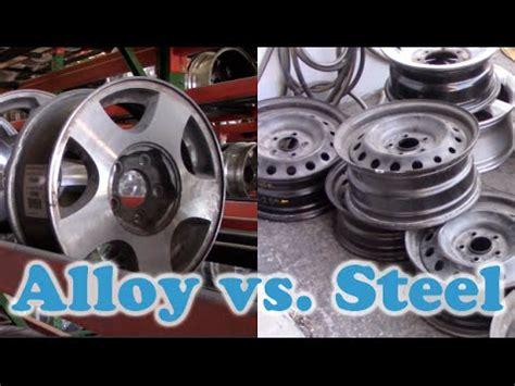 alloy vs. steel wheels! originalwheels.com youtube