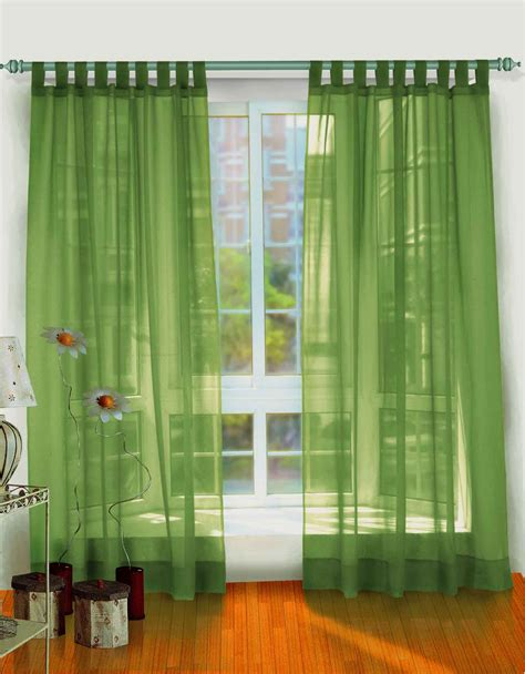 Amazing green modern style bright accents curtain designs for windows