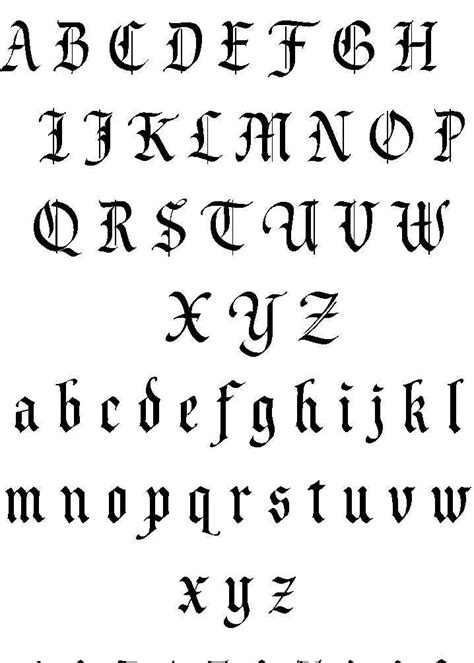 tattoo font outline 19 best calligraphy fonts and old english alphabets images