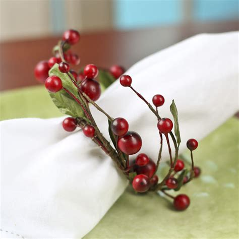 candle ring snow red berries burgundy and pip berry candle ring florals and winter crafts