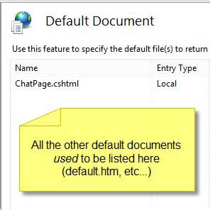 the resource cannot be found iis 8 default document resource cannot be found