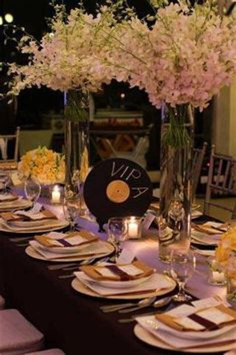 45 record centerpiece themed on themed weddings sheet