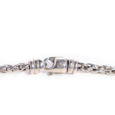 4mm silver david yurman sterling silver 4mm small wheat chain