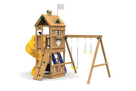 menards wooden swing sets outdoor playsets trainer series 84 lumber