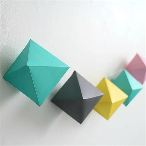 Shape Origami - 5 diy projects for your home this inkifi