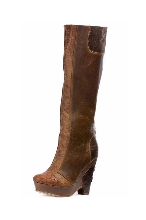 altura siete brown platform boots from vancouver by