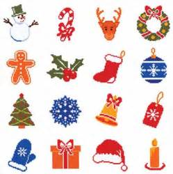 nordic needle christmas motifs 8 cross stitch