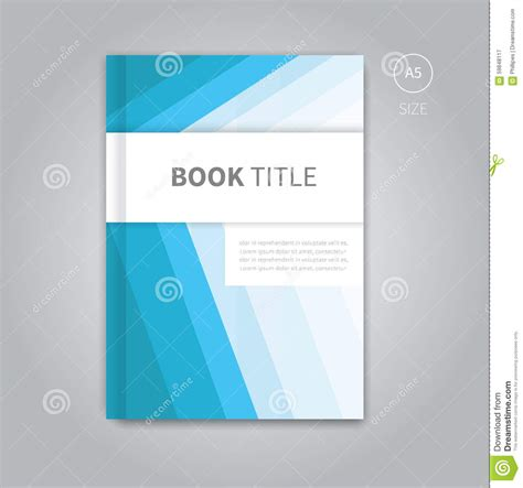 vector book cover template design stock vector