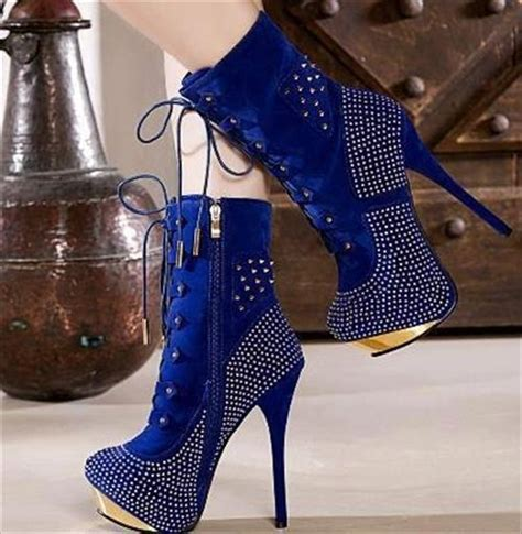 blue high heel boots diy high heel boots for diy craft projects
