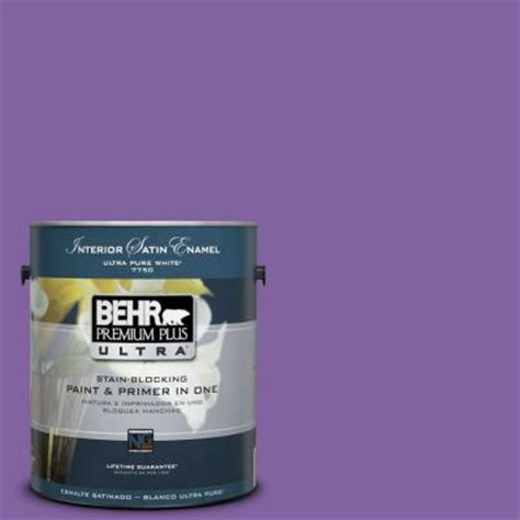 behr premium plus ultra 1 gal ppu16 3 purple paradise satin enamel interior paint 775301 the