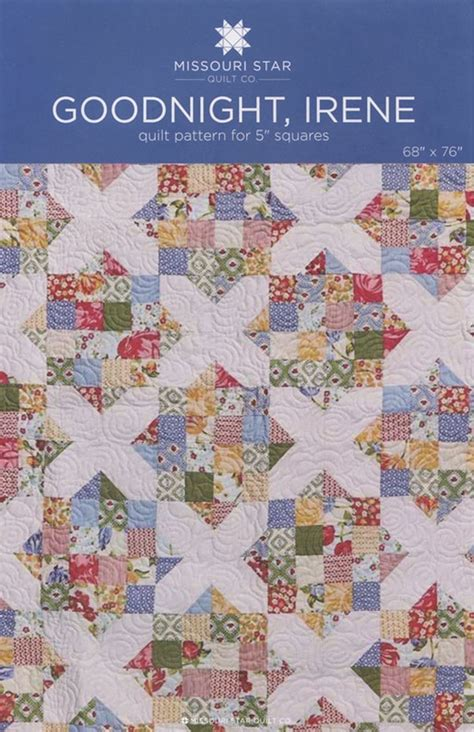 quilt pattern companies msqc goodnight irene quilt pattern charm pack 5