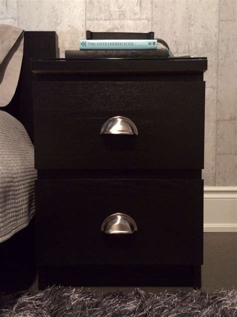 malm nightstand hack ikea malm nightstand hack added industrial style pull