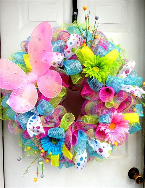 spring wreaths to make spring wreath spring deco mesh easter deco mesh wreath
