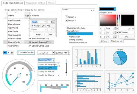 xaml ui layout features componentone studio for wpf グレープシティ コンポーネント製品