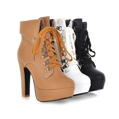 plus size high heel shoes aliexpress buy new arrival plus size high heel boots