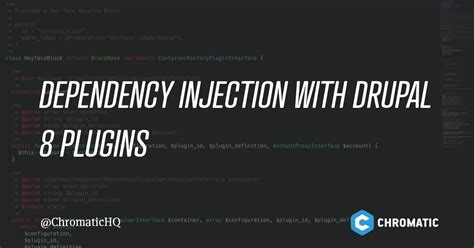 dependency injection and unit of work using castle windsor dependency injection in drupal 8 plugins chromatic