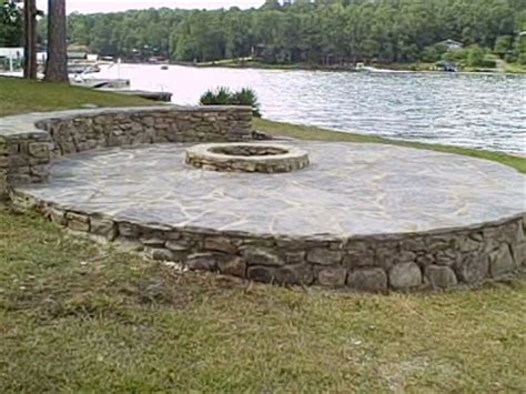build pit on hill greetings from earth on the water pit flagstone patio and sitting wall on lake martin