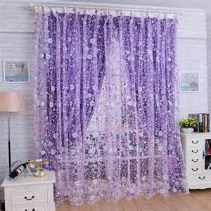 floral window curtains print floral voile door curtain window room curtain