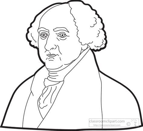john adams drawing american presidents president john adams clipart outline