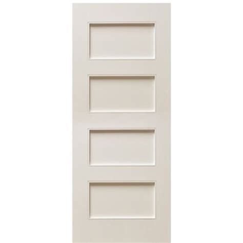4 Panel White Interior Doors Escon Doors Mp6004wp 4 Panel Primed White Shaker Style Interior Door At Doors4home