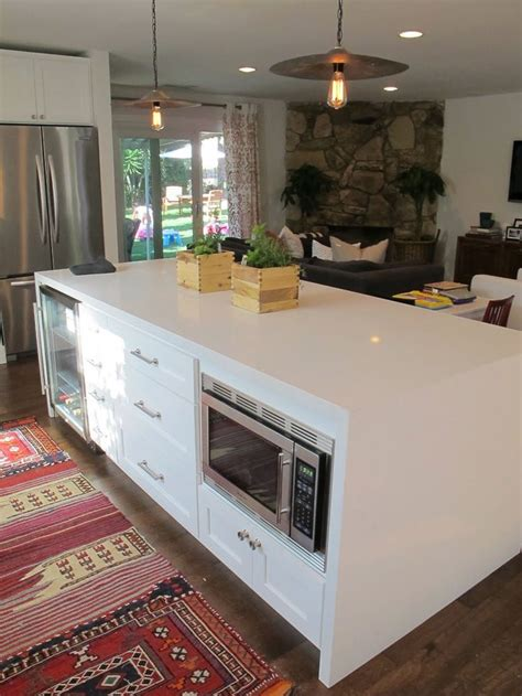 kitchen island with microwave microwave in island kitchen pinterest