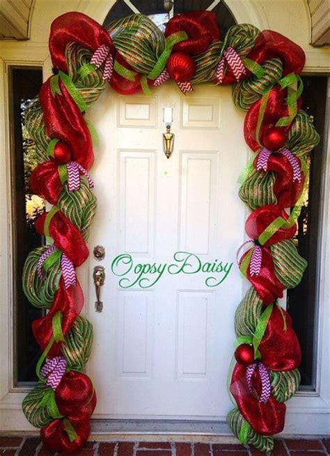 christmas door decoration ideas pink lover