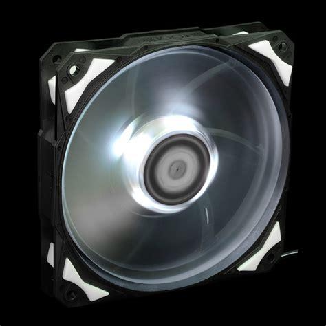 Led Fan white led 120mm 4pin fan with de vibration rubber 1600rpm 60cfm low noise big airflow pc