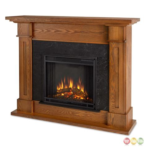 Kipling Electric Heater Led Fireplace In Burnished Oak For Fireplace