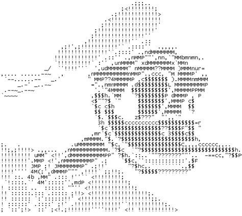 imagenes formadas por letras y simbolos dibujos con caracteres