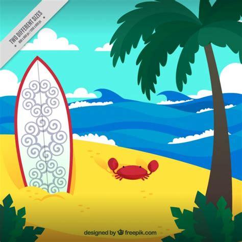 tavola da kitesurf tavola da surf sullo sfondo di sabbia scaricare vettori