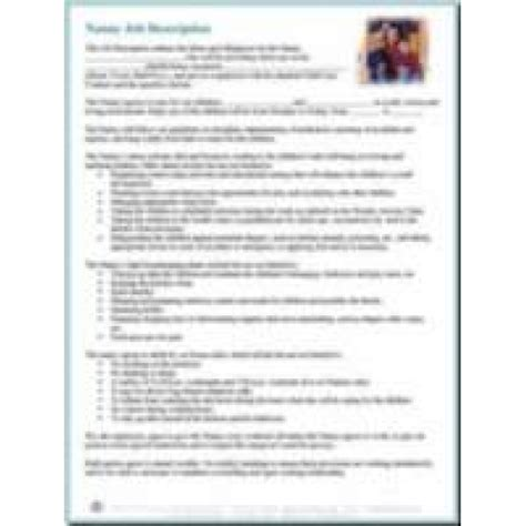 nanny description resume exle nanny resume exle cover letter nanny resume