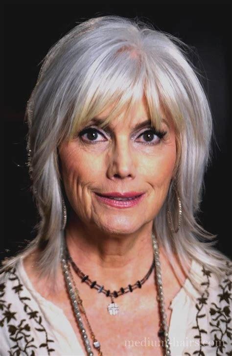 shoulder hair cuts older woman medium shag hairstyles for older women with bangs medium