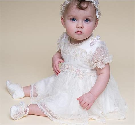 Dress Renda Baby baby christening gowns toddler lace dress white