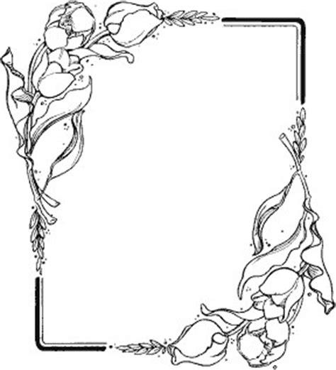 cornici da colorare cornice tulipani1 disegno da colorare gratis disegni da