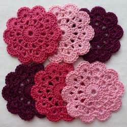 mini project crochet flower coasters wooly donut