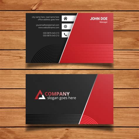 black business card template vector and black business card template vector free