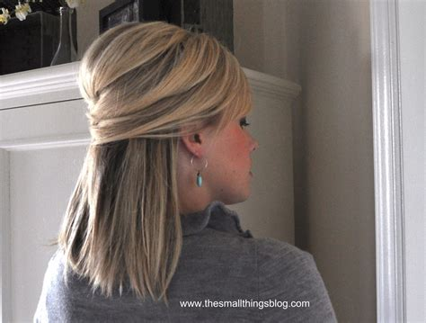 wedding hairstyles down and straight elegant half up the small things blog