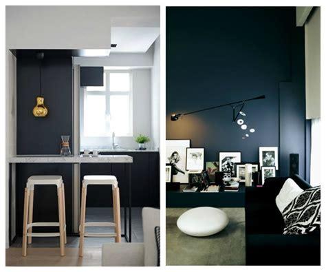 cuisine mur noir decoration cuisine mur