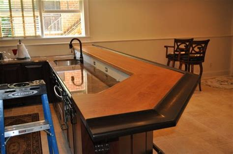 custom bar tops hand crafted american cherry wenge bar top by craft art