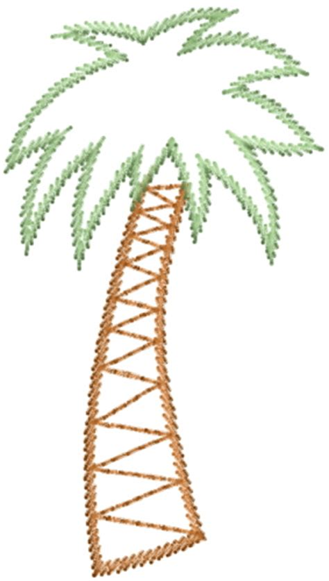 Palm Tree Outline by Outlines Embroidery Design Palm Tree Outline From Annthegran