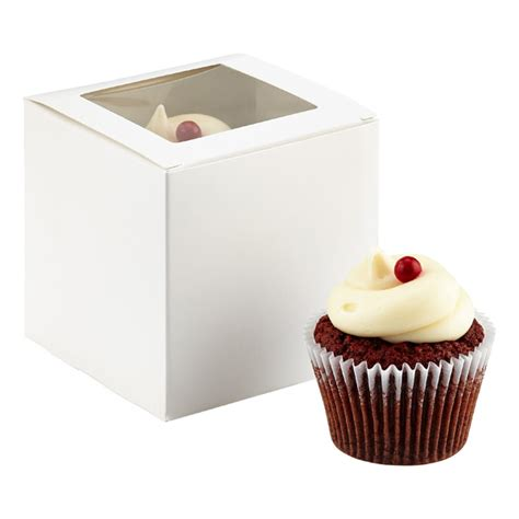 cupcake window boxes single cupcake window box the container store