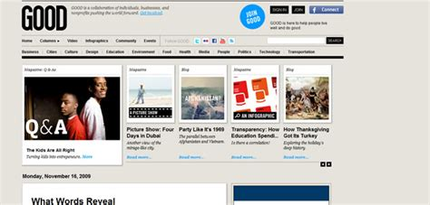 design news online 50 impressive magazine and newspaper styled web designs